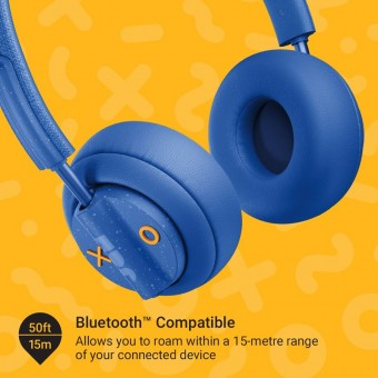 Casti bluetooth on ear JAM Out There Blue, ANC, microfon, Waterproof, 17 ore redare HX-HP303BL