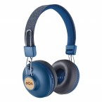 Casti bluetooth on ear Marley Positive Vibration BT Denim, microfon, cablu 3.5 mm,  10 ore redare EM-JH133-DN
