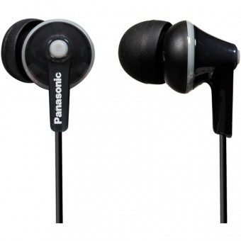 Casti audio in-ear Panasonic RP-HJE125E-K, Negru
