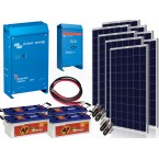 Kit  Fotovoltaic Victron Energy de 2 KW, Acumulator Banner EnergyBull 230A