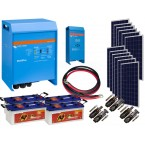 Kit  Fotovoltaic Victron Energy de 3 KW, Acumulator Banner EnergyBull 230A