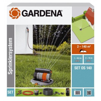 Set irigare cu aspersor telescopic OS 140 rectangular (Gardena 8221)