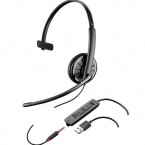 Casti Call Center Plantronics Blackwire C315.1, USB + Cablu 3.5 mm, Microfon Noice Canceling (204440-01)