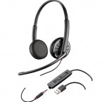 Casti Call Center Plantronics Blackwire C325.1-M, USB + Cablu 3.5 mm, Microfon Noice Canceling (204446-01)