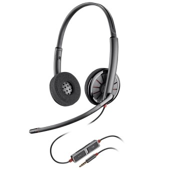 Casca Call Center Plantronics BLACKWIRE 225, 3.5mm Jack, Stereo (205204-02)