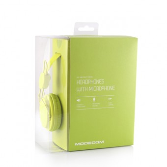 Casti Audio cu Microfon Modecom  MC-400 Fruity, Verde