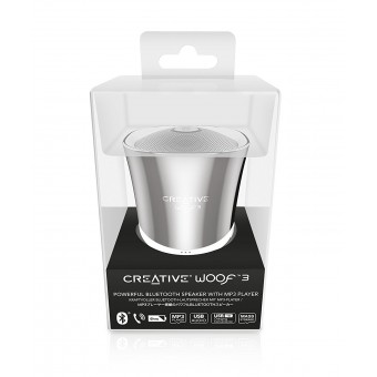 Boxa Bluetooth Creative Woof3, MP3/FLAC, Crom