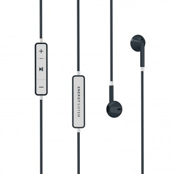 Casti in-ear Energy Sistem 1, Bluetooth, controale pe fir, microfon, Graphite