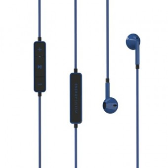 Casti in-ear Energy Sistem 1, Bluetooth, controale pe fir, microfon, Albastru