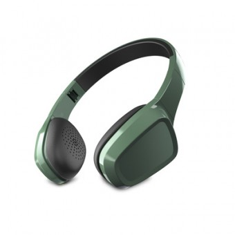 Casti audio on ear Energy Sistem 1, buton pe fir, microfon, pliabile, Verde
