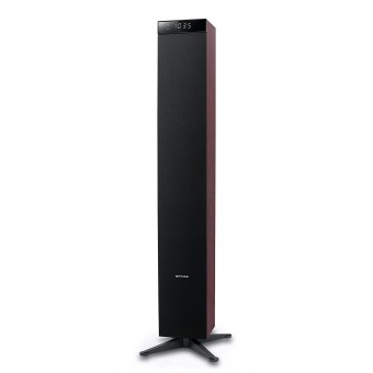 Sistem audio tower Muse M-1280 DWT 2.1, Bluetooth, Radio FM PLL, 120W RMS, Rosu