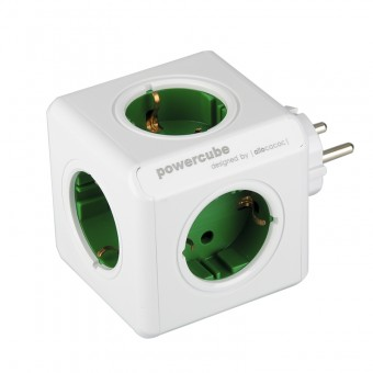Priza PowerCube Allocacoc Original 1100GN, Green