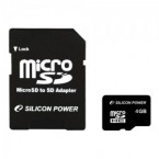 4GB Silicon Power MicroSDHC Card (class 4) 2 in 1