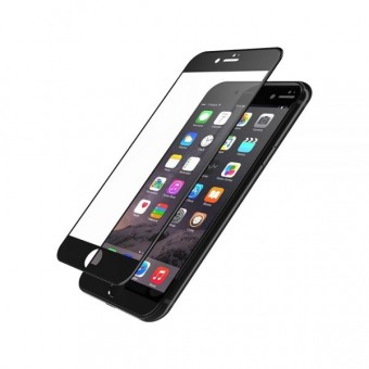 Folie de protectie Tempered glass 3D Tellur pentru Iphone 6/6S Plus, Margini curbate, Black