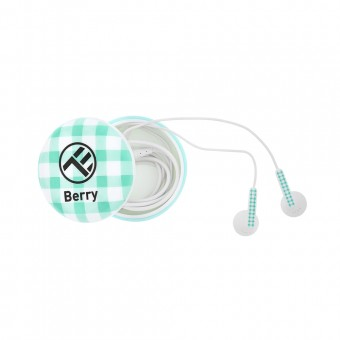 Casti audio Tellur Berry, In-ear, 1.2m, microfon, Verde